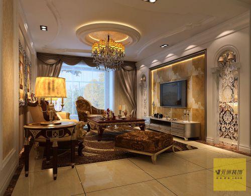 时尚欧式三居室客厅装修效果图