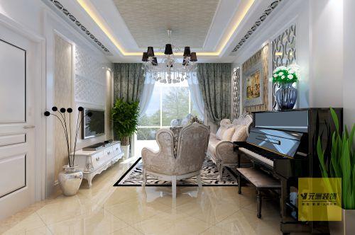 欧式风格二居室客厅装修效果图