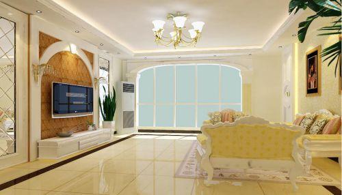 现代欧式五居室客厅装修效果图