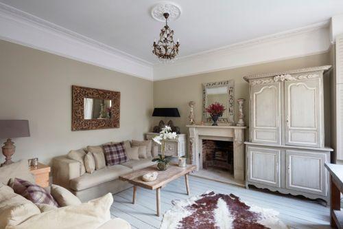 欧式风格典雅客厅精致壁炉装修图片