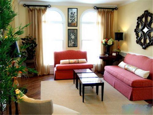 田园风格三居室客厅装修效果图大全