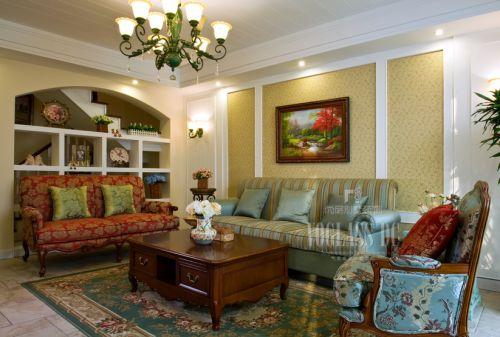 田园风格别墅客厅装修效果图