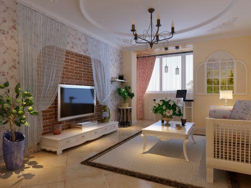 田园风格一居室客厅装修效果图欣赏