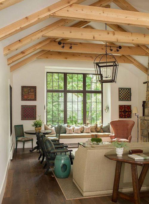田園風格自然白色小客廳飄窗設計
