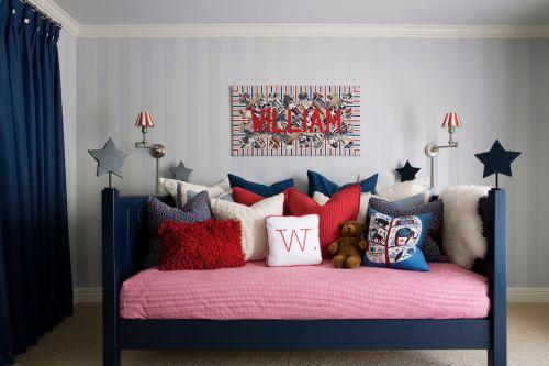 田园风格甜蜜情趣客厅沙发装修实景图