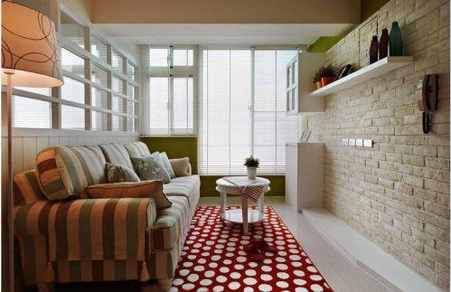 田园风格四居室客厅飘窗装修图片