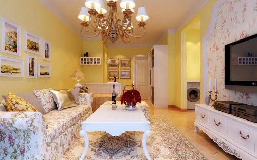 田园风格一居室客厅装修效果图大全