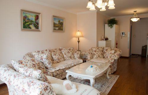 田园风格四居室客厅装修效果图大全