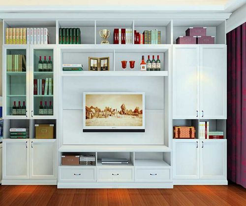 田园风格三居室客厅电视柜装修效果图