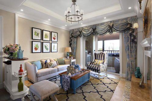 地中海风格二居室客厅壁纸装修效果图大全