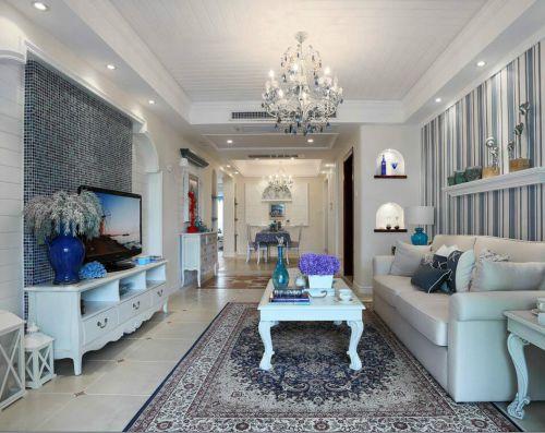 地中海风格四居室客厅沙发装修效果图欣赏