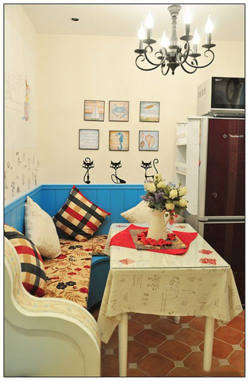 地中海风格二居室客厅照片墙装修图片