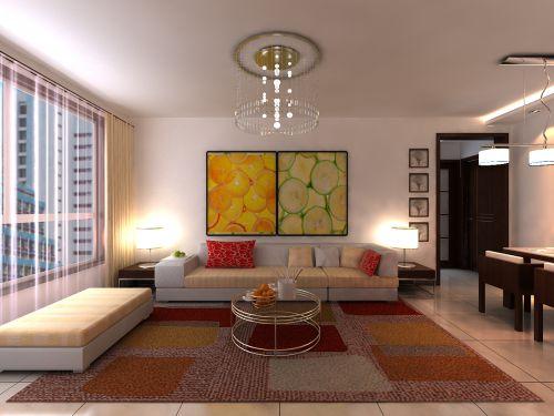 地中海风格二居室客厅吧台装修图片