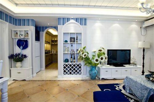 地中海风格二居室客厅灯具装修图片