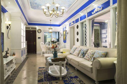 地中海风格三居室客厅茶几装修效果图大全