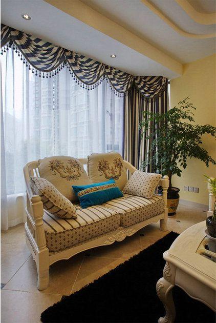地中海风格三居室客厅沙发装修效果图大全