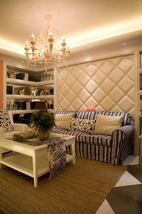 地中海风格一居室客厅装修效果图大全