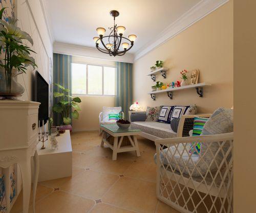 地中海风格三居室客厅装修图片