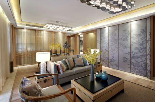 质朴温馨混搭风格客厅茶几装修效果图