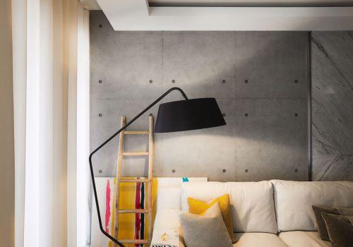 灰色空间清新混搭风格客厅设计效果图