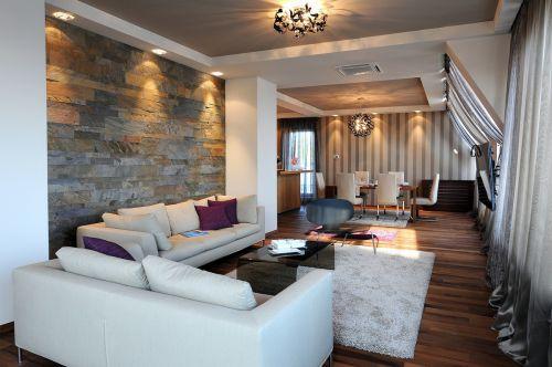 气质优雅精致混搭风格客厅装修实景图