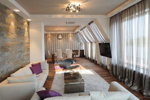 气质雅然混搭风格客厅装修设计