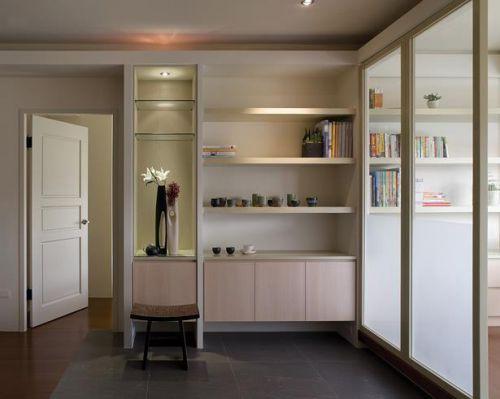 混搭风格二居室客厅组合柜装修效果图大全