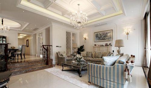 经典混搭风格客厅沙发装修效果图