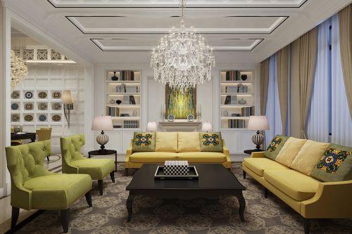 混搭风格三居室客厅装修效果图大全