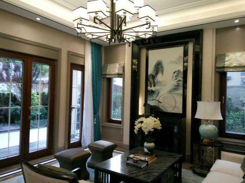 混搭风格四居室客厅飘窗装修效果图大全
