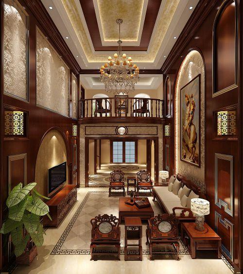 混搭风格复式客厅装修图片欣赏