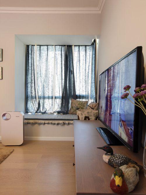 优雅时尚混搭风格客厅飘窗实景效果图