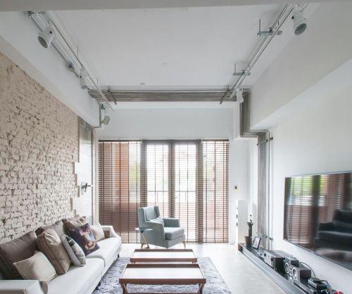 亮白色混搭风格客厅装修效果图