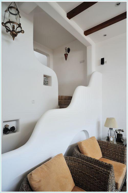 混搭风格三居室客厅楼梯装修图片