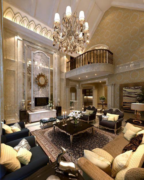 混搭风格六居室以上客厅楼梯装修效果图
