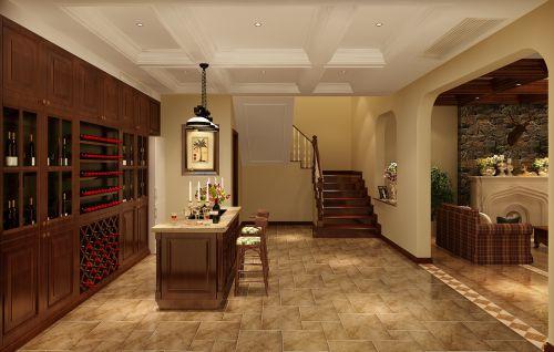 混搭风格六居室以上客厅吧台装修图片
