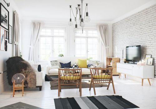 干净白色混搭风格客厅沙发装修图片