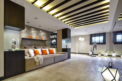 舒适混搭风格客厅沙发装修效果图