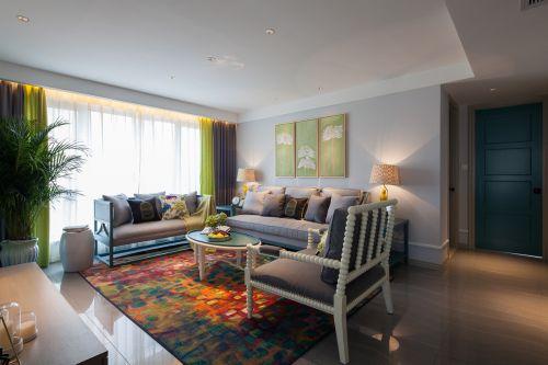 混搭风格四居室客厅飘窗装修图片