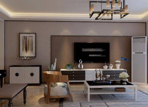 混搭风格二居室客厅窗帘装修效果图欣赏