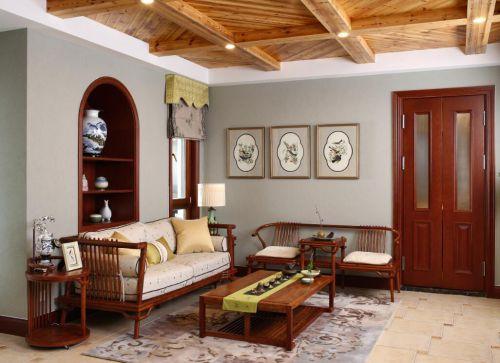 混搭风格五居室客厅吊顶装修效果图欣赏