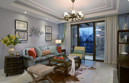 混搭风格四居室客厅窗帘装修效果图大全