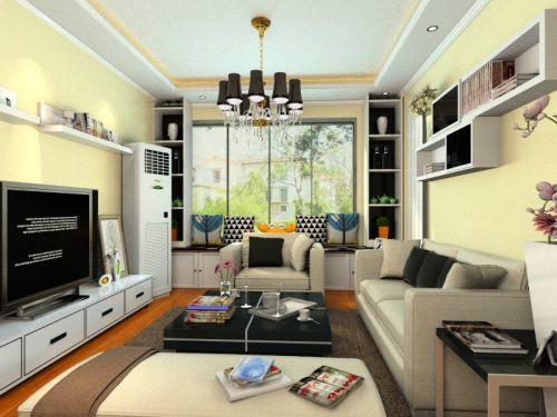 混搭风格二居室客厅飘窗装修图片