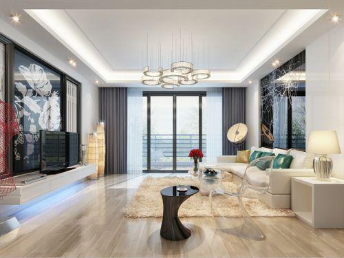 混搭风格三居室客厅飘窗装修效果图