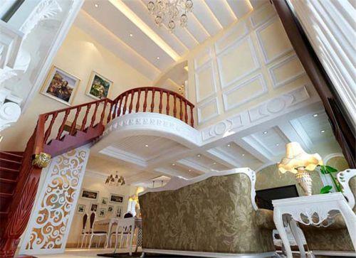 混搭风格四居室客厅吊顶装修图片
