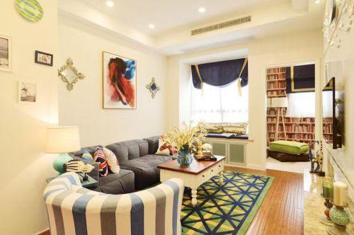 混搭风格一居室客厅飘窗装修效果图欣赏