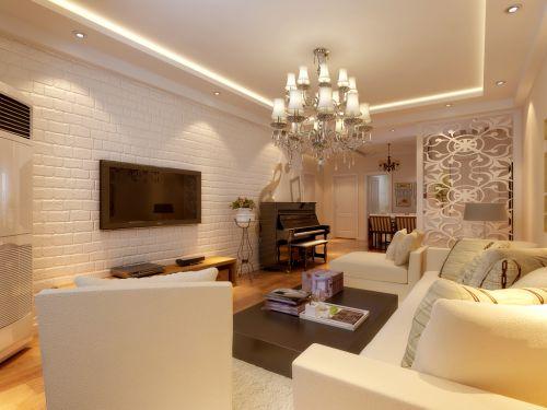 混搭风格二居室客厅沙发装修效果图大全