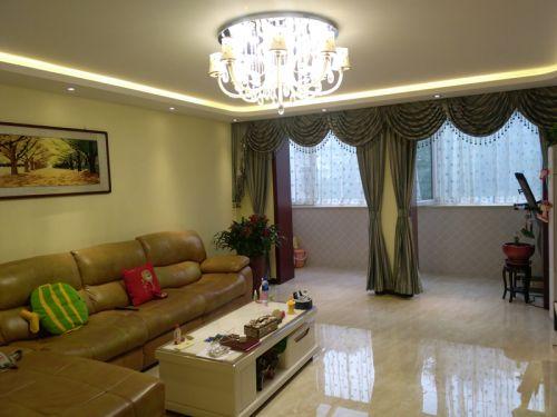 混搭风格复式客厅窗帘装修效果图大全