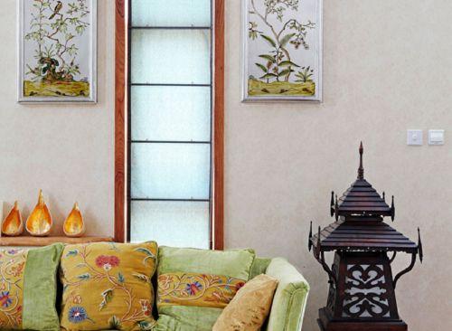 混搭風格別墅客廳飄窗裝修圖片