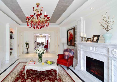 混搭风格四居室客厅茶几装修效果图